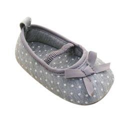 Wholesale Pre Walking Shoes - Wholesale- Kid Girl Pre Walking Shoes Bowknot Dot Toddler Shoes Baby Flats 0-18M