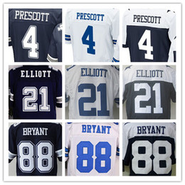 Wholesale Romo Football Jerseys - 4 Dak Prescott 21 Ezekiel Elliott 9 Tony Romo 50 Sean Lee 82 Jason Witten 88 Dez Bryant elite American football jersey