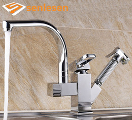 Wholesale Finishes Pull Ceramic - Wholesale- Factory Direct Sale Kitchen Faucet Chrome Finish Deck Mounted with Pull Out Sprayer