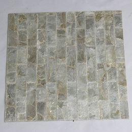 Color blanco natural, azulejo de mosaico de la cáscara de Capiz, fondo de ladrillo azulejo cara de los muebles azulejo de la madre de la perla # L004g desde fabricantes