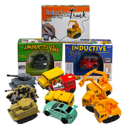 Wholesale Science Sale - Enlighten Hot Sale 1 Piece Magic Toy Truck Inductive Car Magia Excavator Tank Construction Cars Truck Vehicles Toy Free Shipping