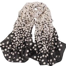 Wholesale Chiffon Headscarf - Wholesale-2016 New Fashion Women Lady Polka Chiffon Warm Hem Scarf Headscarf Shawl Blue Black Pink