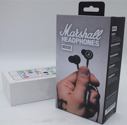 Wholesale Marshall Music - Original For Marshall MODE Earphones Noise Isolating In-Ear Hifi Stereo Deep Bass Hifi Music Headphone For iphone 7 7s plus Samsung HTC PC