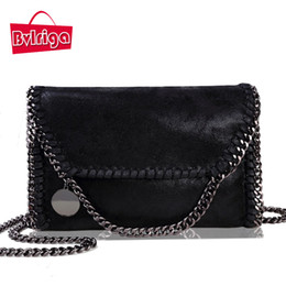 Wholesale European Style Vintage Gold - Wholesale- BVLRIGA Women bag collapsible small chain handbag famous designer brand bags vintage women leather handbags women messenger bags