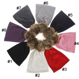 Wholesale Boys Hair Cap - Baby Autumn Winter Hair Bulb Hats Kids Solid Knitting Caps Trendy Beanie Boys Girls Warm Caps