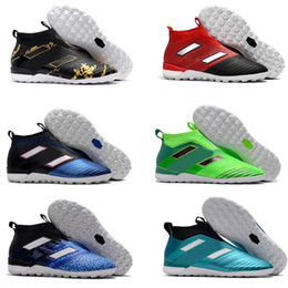 Wholesale Cheap Slip Boots - High Quality New Ace 17+ purecontrol TF soccer shoes Pure Control Football Shoes Soccer Cleats Boots Cheap Football Shoes