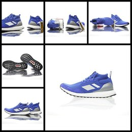 Wholesale Medium Time - Consortium Ultra Boost Mid Run Thru Time Blue Footwear White BY3056 Shoes Mens Women Ultra Boosts Size 36-45