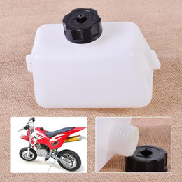 Scooters gaz vélos en Ligne-New White Gas Fuel Oil graisseur fit pour 2 Temps 43cc 47cc 49cc Mini Scooter Quad Dirt Pocket Bike ATV Scooter Vélos