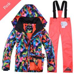 Wholesale Girls Snowboard Jacket - 2016 Boys Girls Gsou Snow Ski Jacket+Pants Snowboard Outdoor Wear Camping Hiking Windproof Waterproof Ski Suit Warm Clothing Set