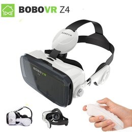 Wholesale Virtual Movies - 2017 Google cardboard VR BOX 2 XiaoZhai bobo vr z4 Virtual Reality 3D Glasses VR Headset earphone movie + Bluetooth Controller