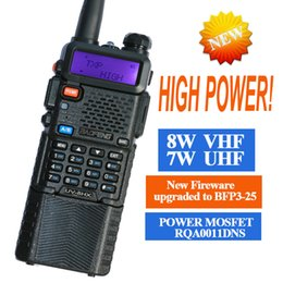 Wholesale Dual Walkie - two way radio walkie talkie UV-8HX,baofeng Pofung uv-5r triple power version,1w 4w 8watts VHF UHF dual band ham radio