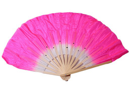 Wholesale Chinese Wedding Veils - Bamboo frame Chinese belly dance fan silk veils assorted