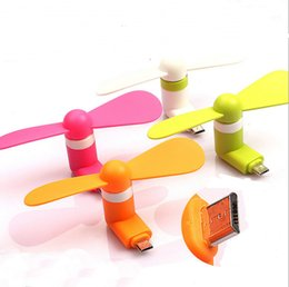 Wholesale Android Phones China - Mini USB Dock Fan Portable Mini Cooler Bamboo-copter Fan Phone Android iphone type C Fan for Samsung S8 s7 iphone 6 7 plus New