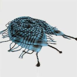 écharpes arabes en gros Promotion Gros-vente chaude unisexe 5 couleurs femmes hommes damier arabe grille cou keffieh Palestine écharpe enveloppe 100 * 100cm