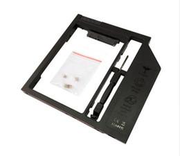 Canada Vente en gros- 2ème HDD Caddy Universal 9mm CD DVD Baie Optique Disque dur Adaptateur Pour 2.5inch SATA SSD HDD Case cheap esata cases Offre