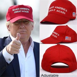 Wholesale Wholesale Sports Usa - Hat Donald Trump Republican Make America Great Again Snapback Sports Hats Fitted Baseball Caps USA Flag Mens Womens Fashion Cap DHL Free