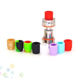 Wholesale Disposable Silicon Testing Mouthpiece - TFV8 Silicone Mouthpiece TFV12 Cover Silicon Drip Tip Disposable Colorful Rubber Test Dip Tips Fit TFV8 Big Baby DHL Free