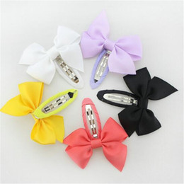 Wholesale Hair Acessories Baby - Baby Hair Bows Clip Grosgrain Ribbon Girl Bows for Children Hair Acessories Baby Hairbows Girl Bows Wholesale