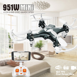 Mini transmisor de cámara online-FQ777 951W WIFI Mini Pocket Drone FPV 4CH 6-axis girocompás Quadcopter con 30W cámara Smartphone Holder Transmitter