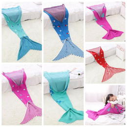 Wholesale Mattress Bedroom - Mermaid Christmas Blankets Kids Mermaid Tail Blankets Mermaid Tail Sleeping Bags Cocoon Mattress Bedroom Sofa Air Condition Blankets B3064