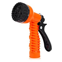 Wholesale Gun Water Spray Nozzle - Wholesale- Multifunction 7-pattern Plastic Watering Nozzle Adjustable Car Washing Garden Water Gun Spray High Pressure