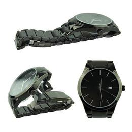 Черные часы вольфрама онлайн-2018 горячее надувательство Curren 8106 стали вольфрама черный мода мужчины часы Кварцевые аналоговые наручные часы бесплатная доставка