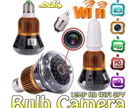 Wholesale Day Night Ir Cameras - 1080P 12MP WIFI HD SPY DVR Hidden Camera IR Night Vision Light Bulb Video Recorder Nanny Cam Security Camera Free Shipping