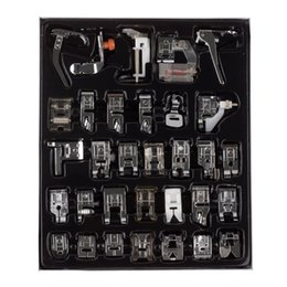 Wholesale Sewing Presser Foot Kits - 32pcs Domestic Sewing Machine Presser Foot Feet Kit Set With Box For Brother Singer Janom