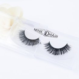 Wholesale Stage Eye Makeup - New Handmade Cotton Stalk Water Mink False Eyelashes Thick Curls Messy Cross 3D Fake Eyelashes Stage Smoked Makeup Eye Lashes