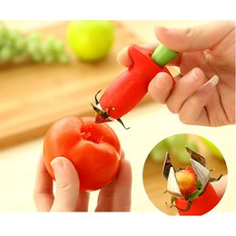 Wholesale Dig Tool - Kitchen Accessories Fruit Vegetable Corer Tools Strawberry Tomato Stem Digging Pedicle Leaves Huller Remover Remove Tool Gadget Cooking Tool