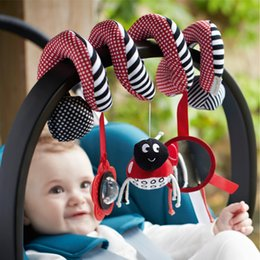 Wholesale Babyplay Stroller - Wholesale- Cute Infant Babyplay Baby Toys Activity Spiral Bed & Stroller Toy Set Hanging Bell Crib Rattle Toys For Baby