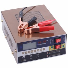 Wholesale Automatic Battery Chargers - Wholesale- Newest 110V 220V Full Automatic Electric Car Battery Charger Intelligent Pulse Repair Type Battery Charger 12V 24V 100AH