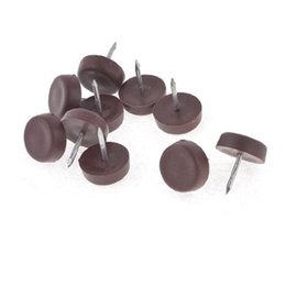 Wholesale table leg floor protectors - Wholesale- New 18mm Practical Rubber Brown Table Chair Leg Foot Covers Floor Protector 1 Pcs Free shipping