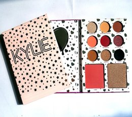 Wholesale Glitter Eye Shadow Set - NEW Kylie Cosmetics Birthday Collection Palette 9 Color Eye Shadow+ Blush +Bronzers Highlighters Set DHL free shipping+GIFT