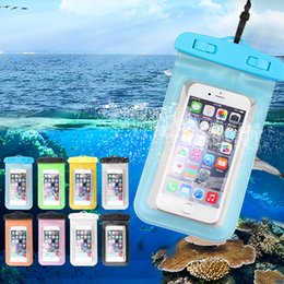 Wholesale Tpu Waterproof - For iphone X Case Universal Clear Waterproof Pouch Bag For Samsung Galaxy S7 S9 Plus Touch Screen Waterproof Neck Pouch Bag With Opp Package
