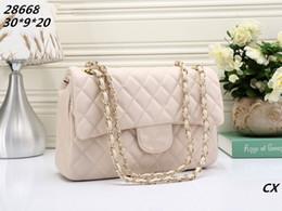 Wholesale Golden Tote - women shoulder bag Classic Leather golden chain retail new bags handbags shoulder bags tote bags messenger 30*20*9cm