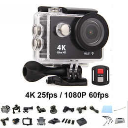 Wholesale Action Camcorders - H9R 4K Action Camera Ultra HD 1080P WiFi Sport Waterproof DV Helmet Video Camcorder 2.4G Remote control