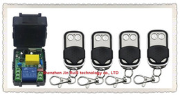 Wholesale Rf Radio Switch - Wholesale- NEW AC220V 1CH 10A Radio Controller RF Wireless Push Remote Control Switch 315 MHZ 433 MHZ teles witch 4 Transmitter + Receiver