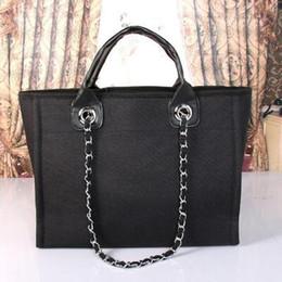 Wholesale Large Canvas Purse - Women canvas bag luxury handbags women bags designer shoulder bags ladies clutch purses vintage classic sac tote bag large shopping bags