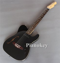 Wholesale Custom Instrument - In stock Custom OEM handmade f semi hollow body TELE style guitars electric,rosewood bridge,made in China music instruments,free shipping