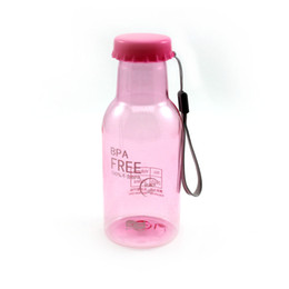 Wholesale school water bottles - Wholesale- Pink Color 350ML Portable Soda Water Bottle Holder Cup For Sports Travel Cycling Camping School X1
