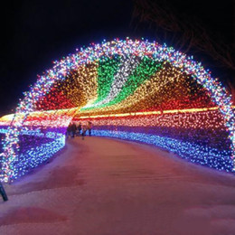 Wholesale Outdoor Pink Twinkle Fairy Lights - 20M 30M 50M 100M 600 LED String Fairy Outdoor Christmas LED Lights Party Wedding Twinkle Light Red Blue Green Warm White