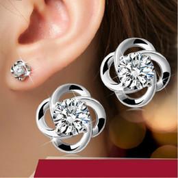 Wholesale Model Earrings - Earrings s925 sterling silver earrings rotation love upscale retro female models selling sterling silver jewelry