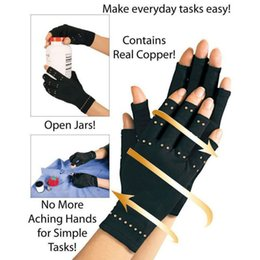 copper kitchen lighting Coupons - 10 Pair lot Therapeutic Compression Copper Hands Arthritis Gloves Men Women Circulation Grip Ultra Light Home Kitchen gloves