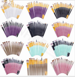 Wholesale Eyes Foundation - Professional 20 Pcs Makeup Brushes Set Powder Foundation Eyeliner Lip Cosmetic Makeup Brushes Eyeshadow Eyeliner Lip Brush KKA2087
