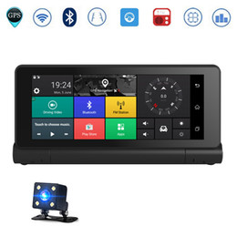 Wholesale Gps Car Vehicle Dvr - 3G 7 inch Car GPS Navigation Bluetooth Android 5.0 Navigators With DVR HD 1080 Vehicle GPS SAT Navi Free 3D Maps