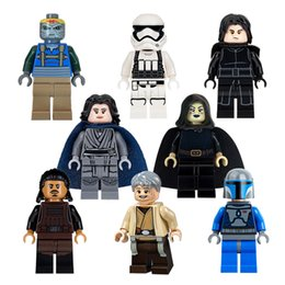 Wholesale Space Wars Building Blocks Minifigs Toys For Children storm troops Mandalorian Kylo Ren Figures Kids Gifts Bricks Toy