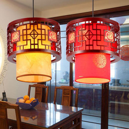 Wholesale Wooden Bedroom Classic - Free delivery, Chinese Style Wooden Teahouse Pendant Lamp Vintage Classic Dining Room Pendant Light Balcony Corridor Pendant Lights