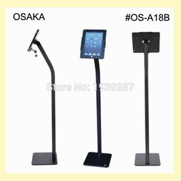 """Wholesale Trade Store - Wholesale- for ipad 2 3 4 air air2 pro 9.7"""" floor stand with security lock enclosure bracket display on bank trade fair exhibition store"""