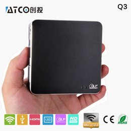 Wholesale Projector Tablets - Wholesale-2016 Newest 800*480 1080p Miracast Airplay Q3 UC40 projector portable projectors,Smart mini projector for smartphones tablet pc